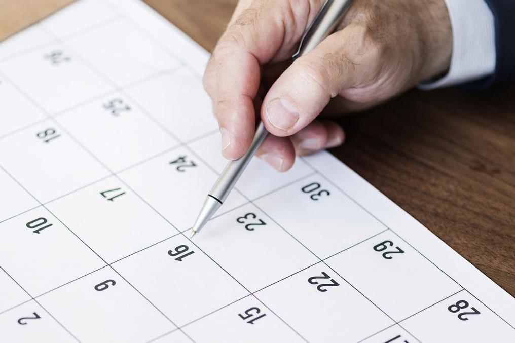 Calendrier des périodes en entreprise