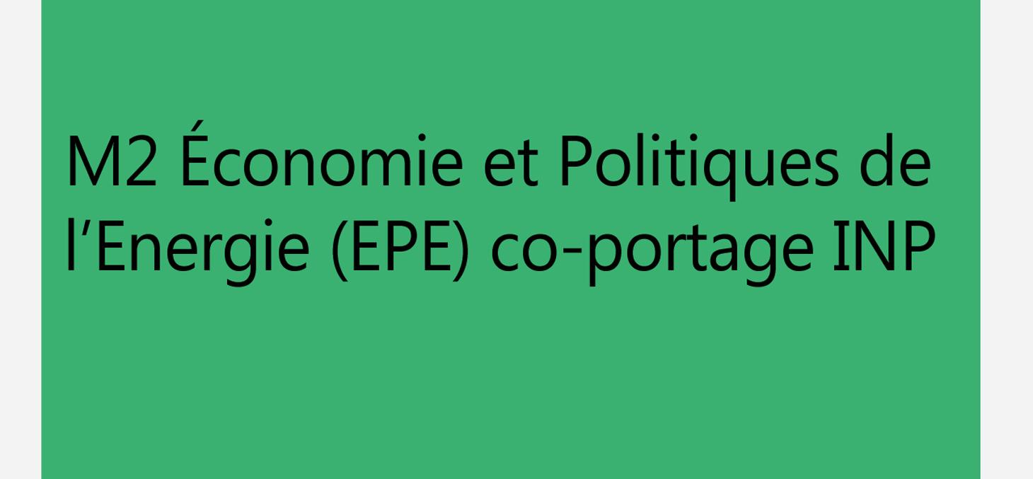 parcrours economie et politique de l'énergie